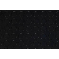 Black Rubber Matting - Circles
