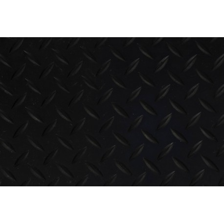 Black Rubber Matting - Chequerplate
